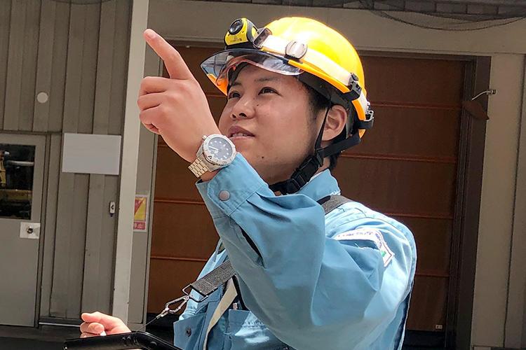 新卒採用(電気系学部)・施工管理部門配属 Nさん