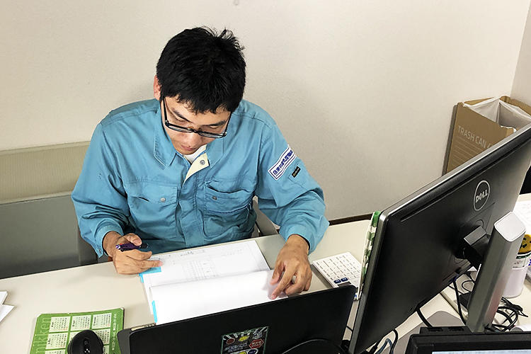新卒採用(機械系学部)・施工管理部門配属 Sさん