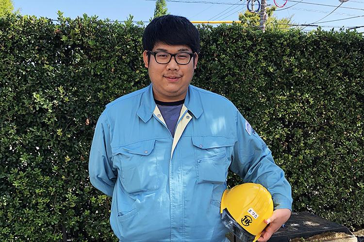新卒採用(工業高校電気系)・施工管理部門配属 Mさん